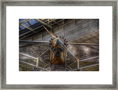 Spirit Of St Louis Propeller Airplane Framed Print by Marianna Mills