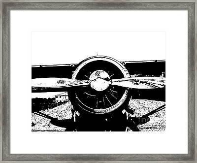 Plane Framed Print by Susan Parsley