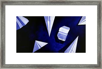Planes On Blue Framed Print