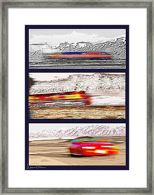 Planes Trains Automobiles Triptych - Signed Limited Edition Framed Print by Steve Ohlsen
