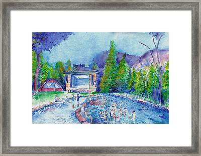 Planet Bluegrass Lyons Colorado Framed Print