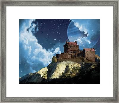 Planet Castle Framed Print
