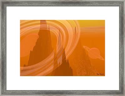 Planet Citrus Framed Print by Wayne Bonney