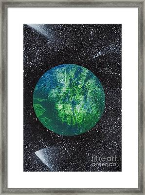 Planet Comet  Framed Print by Kylah Fountain