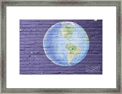 Planet Earth Framed Print by Juli Scalzi