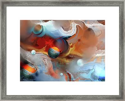 Planet Firefox Framed Print