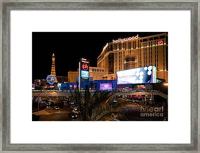 Planet Hollywood Hotel Framed Print by Andy Smy