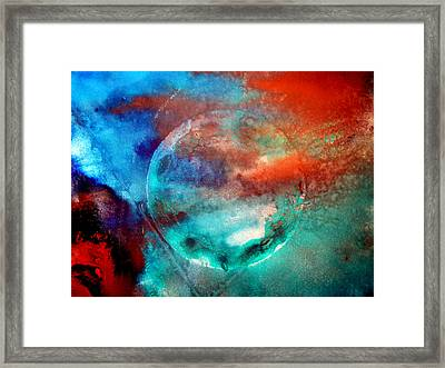 Planet In Galaxy Andromeda Framed Print