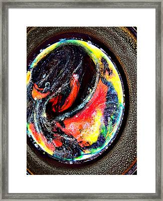 Planet In Orbit Framed Print by Angelina Vick