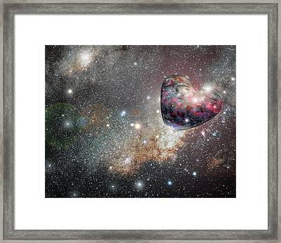 Planet Love Framed Print