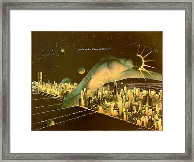 Planet Manhattan Framed Print by Gary Kaemmer