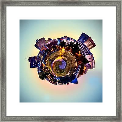 Planet Memphis - Contemporary Digital Art Framed Print