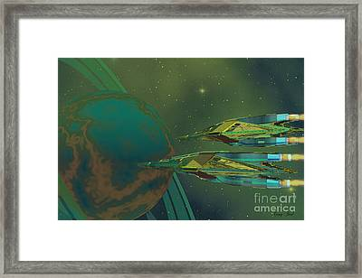 Planet Of Origin Framed Print by Corey Ford