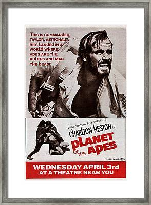 Planet Of The Apes, Top Charlton Framed Print by Everett