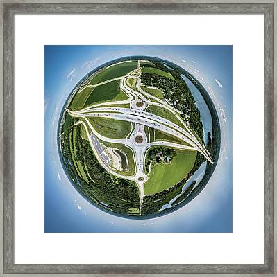 Planet Of The Roundabouts Framed Print