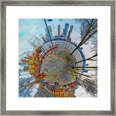 Planet Rotterdam Framed Print