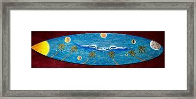 Planet Surf  Framed Print