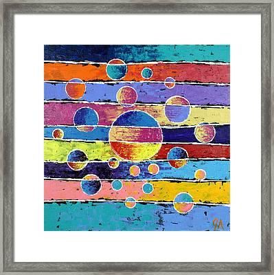 Planet System Framed Print
