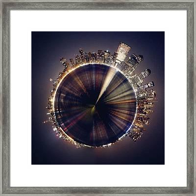 #planet #world #sky #beautiful #art Framed Print