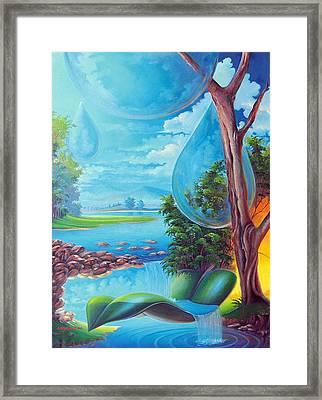 Planeta Agua Framed Print by Leomariano artist BRASIL