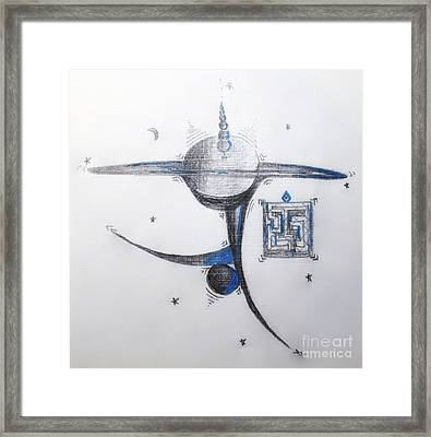 Planetary Axis Framed Print