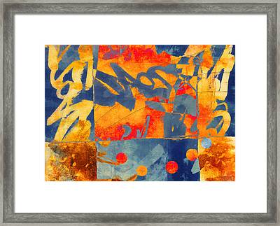 Planetary Celebration Framed Print