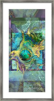 Planetary Collision 2 Framed Print by Ursula Freer