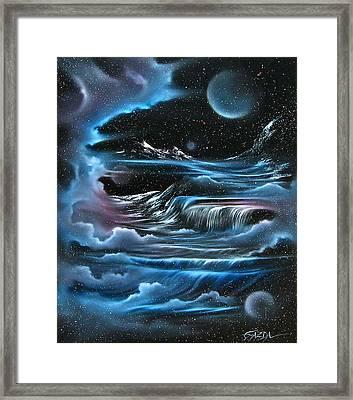 Planetary Falls Framed Print by David Gazda