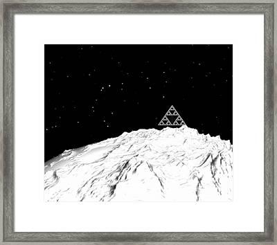 Planetary Mountain Framed Print