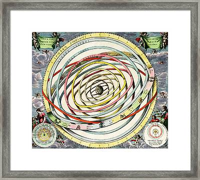 Planetary Orbits, Harmonia Framed Print by Science Source