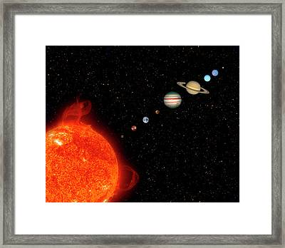 Planets Of The Solar System Framed Print