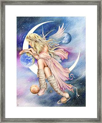 Planets Of The Universe Framed Print by Johanna Pieterman