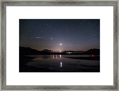 Planets Over Mammoth Framed Print by Cat Connor