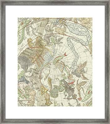 Planisphaerii Coelestis Hemisphaerium Meridionale Framed Print