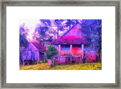 Plank Homes Framed Print by Caito Junqueira