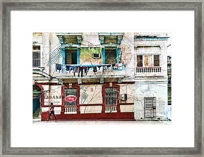 Plano De La Habana Framed Print