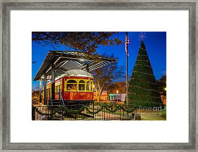 Plano Trolley Car Framed Print by Inge Johnsson