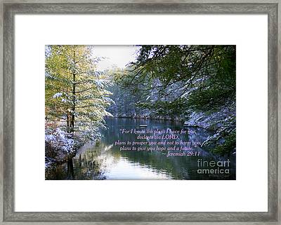 Plans Of Hope Framed Print by Debra Straub
