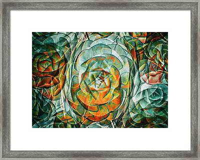 Plant Abstract Framed Print by Wayne Sherriff