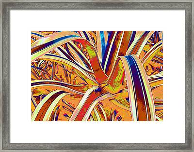 Plant Leaves Manip Framed Print by Russ Mullen
