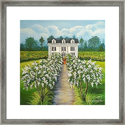 Plantation Home Framed Print by Sandra Lett