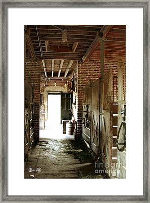 Plantation Stable Framed Print