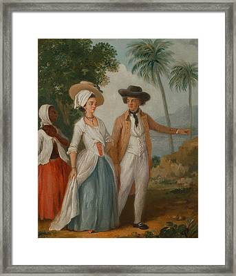 Planter And His Wife, With A Servant Framed Print by Agostino Brunias
