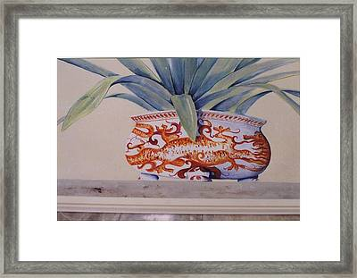 Framed Print featuring the painting Planter Close Up by Thomas Lupari