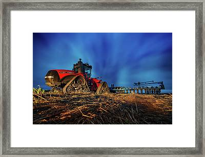 Planting Red Framed Print by Thomas Zimmerman