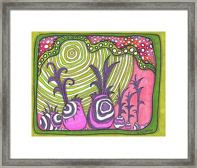 Plants From Another Dimension Framed Print
