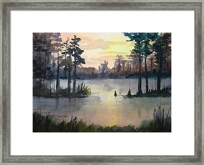 Plaquemines Parish Louisiana Sunset Framed Print
