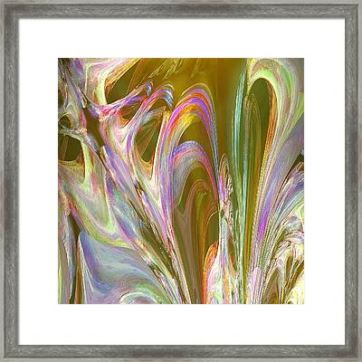 Plasma Flow Framed Print