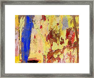 Plaster Abstract 10 By Michael Fitzpatrick Framed Print
