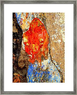 Plaster Abstract 2 By Darian Day Framed Print